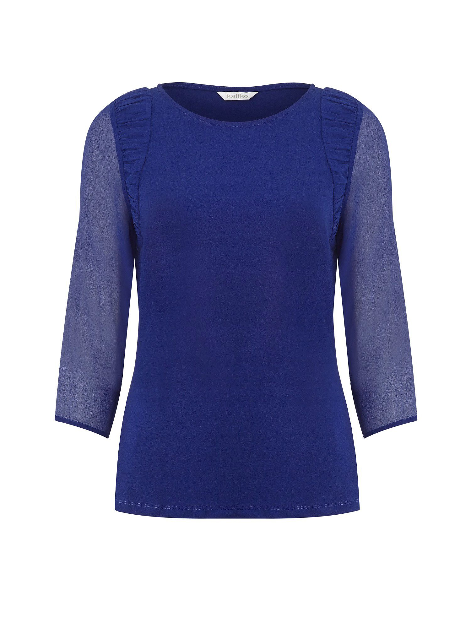 Cobalt Ruched Shoulder Top