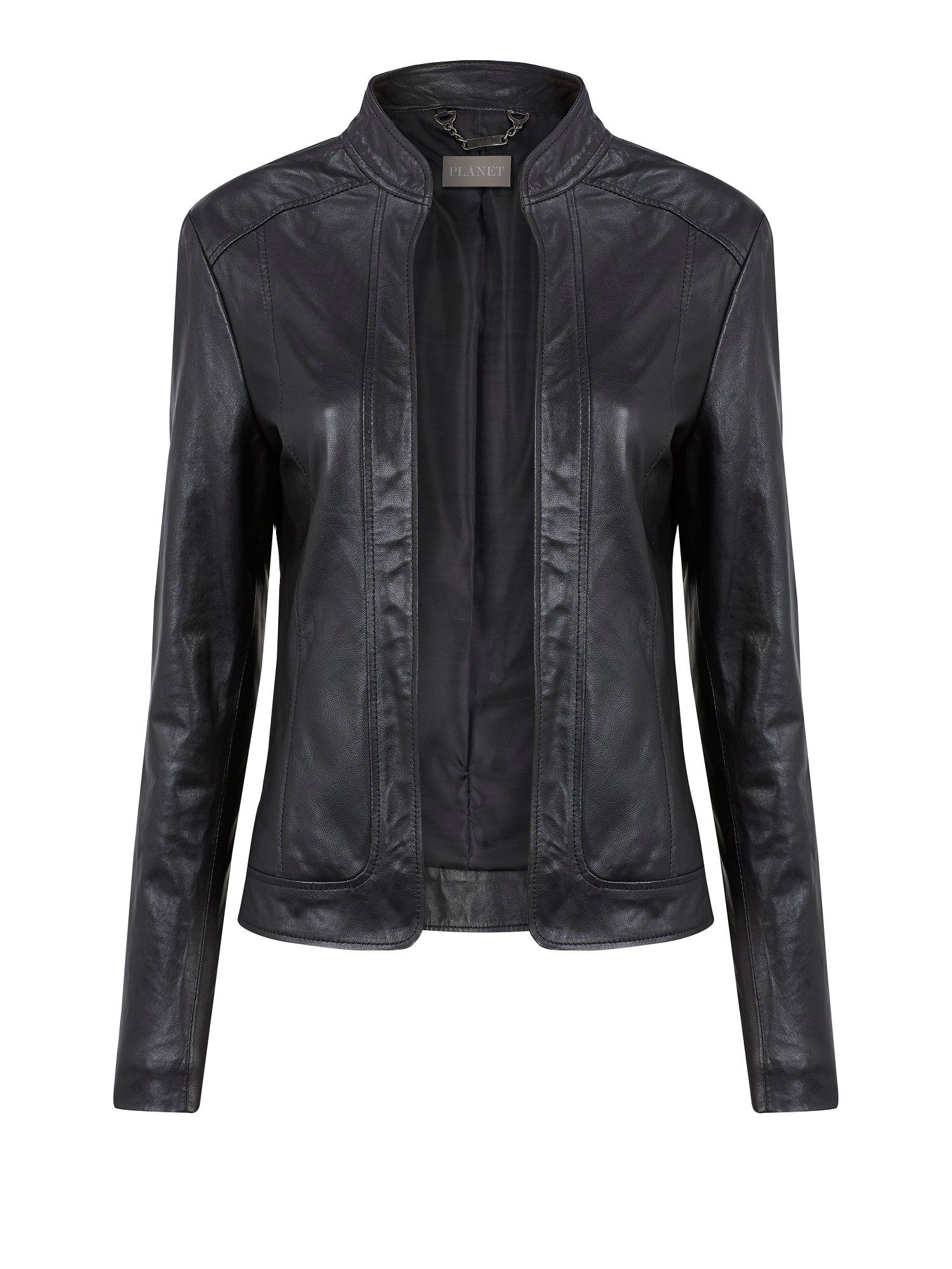 Edge to Edge Leather Jacket