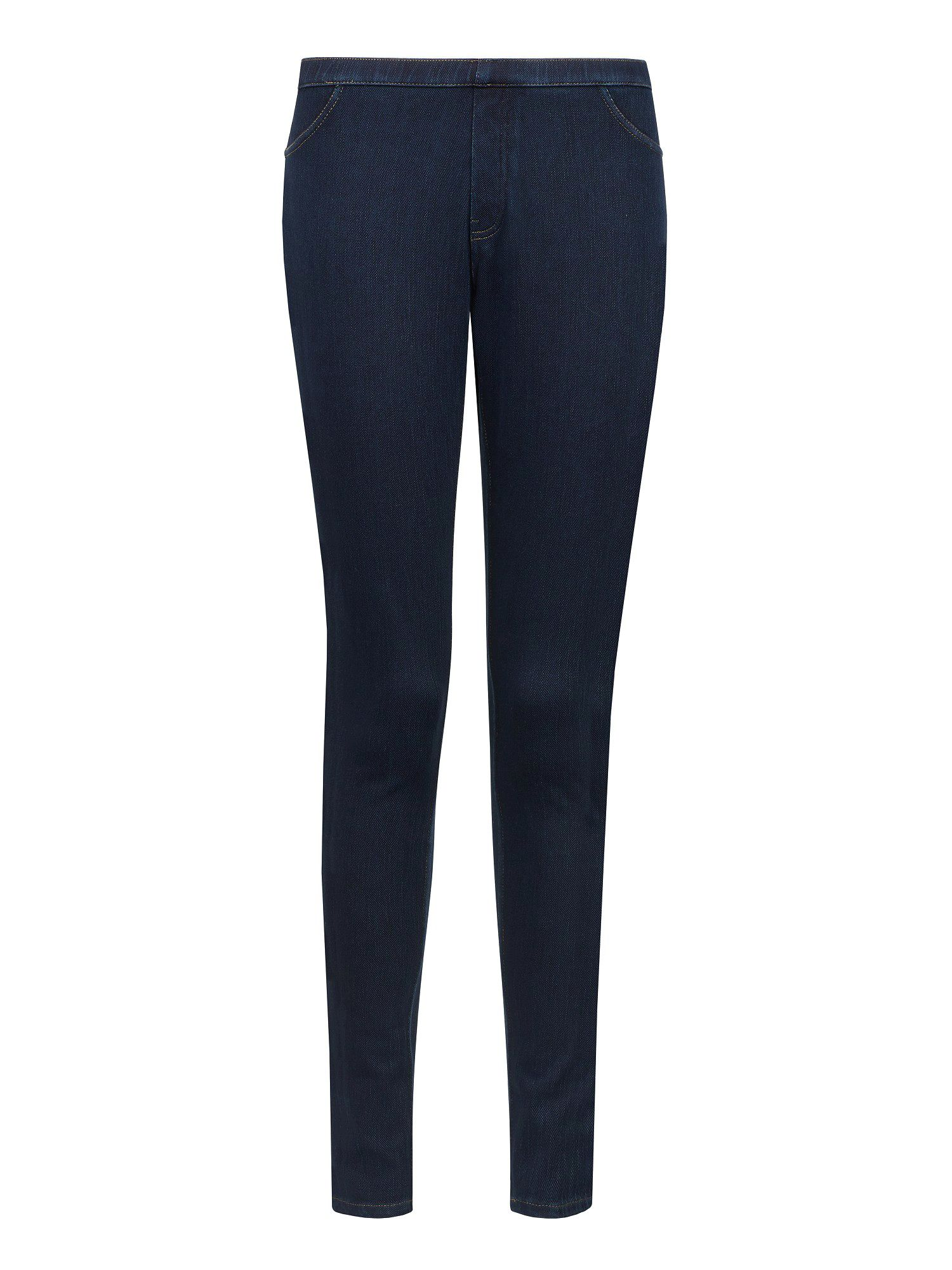 Indigo Stretch Textured Jeggings