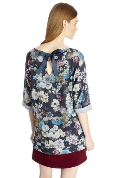 Oasis Rose floral sweater