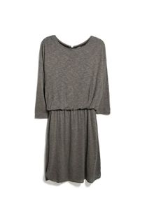 Elastic waist flecked dress
