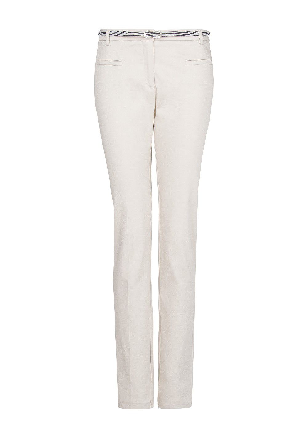 Straight-fit cotton trousers