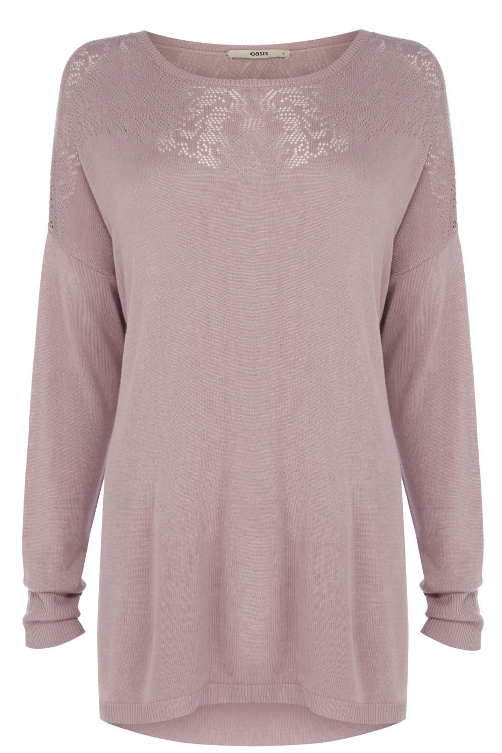 Lace pointelle jumper