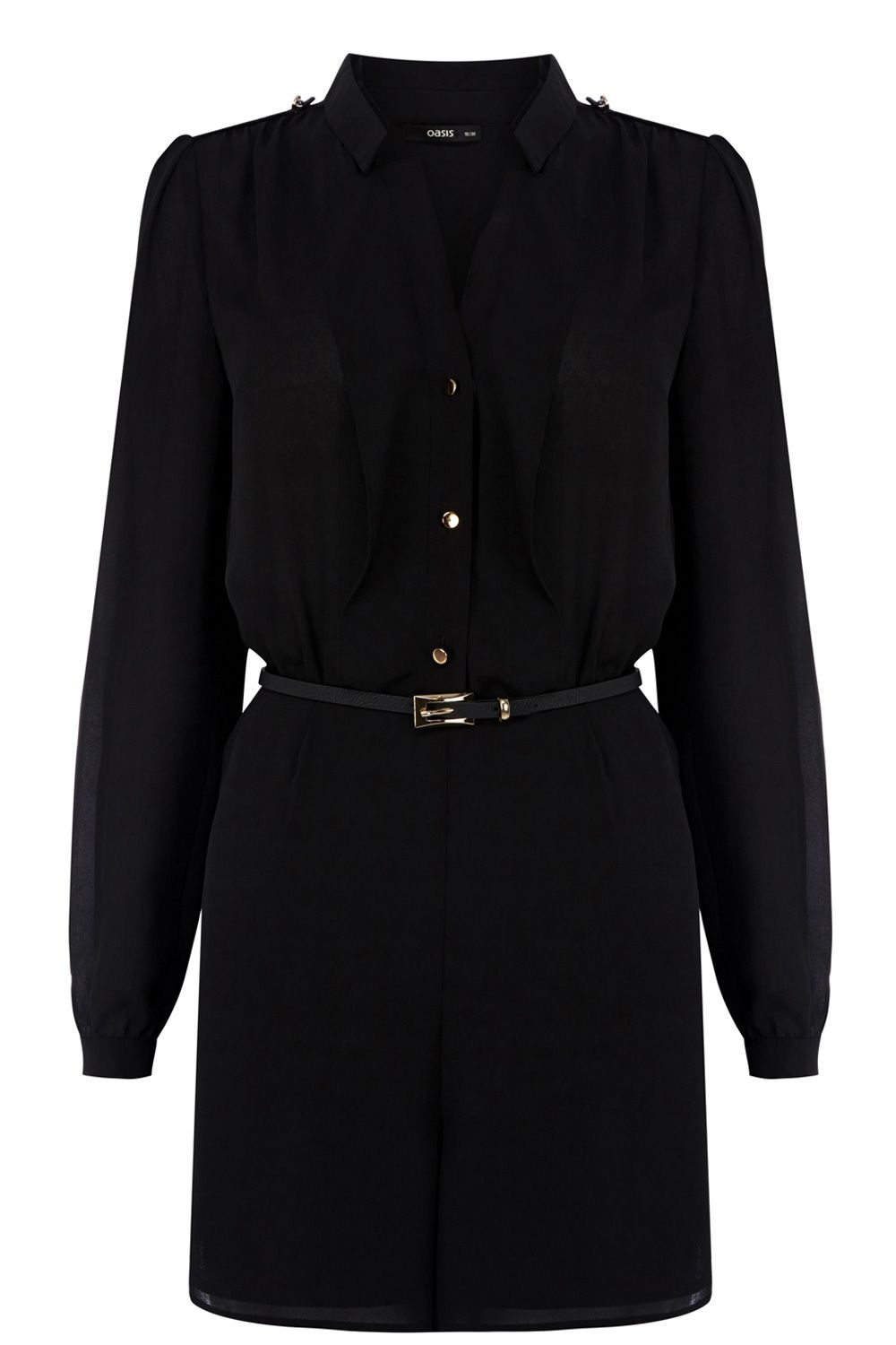 Utility shirt playsuit
