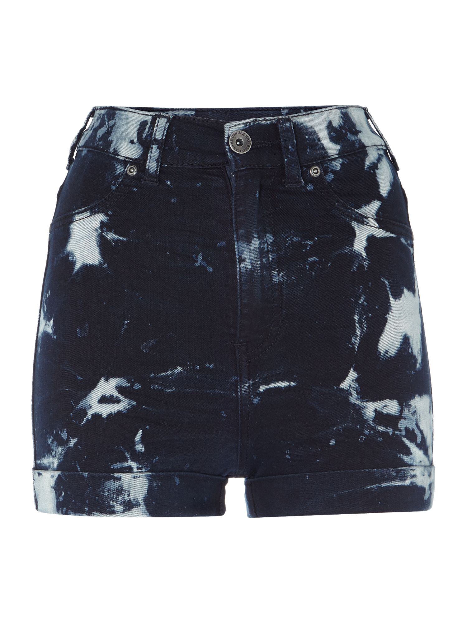 Galore high waist shorts in Dry Blue