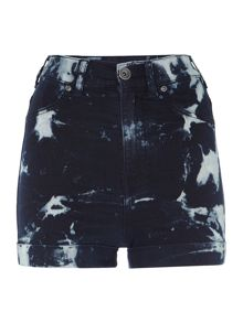 Dr Denim Galore high waist shorts in Dry Blue