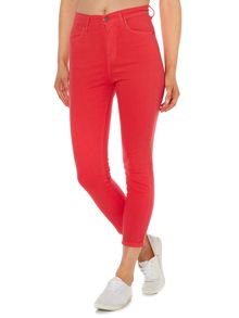 Dr Denim Cropa cabana cropped skinny jeans in Raspberry