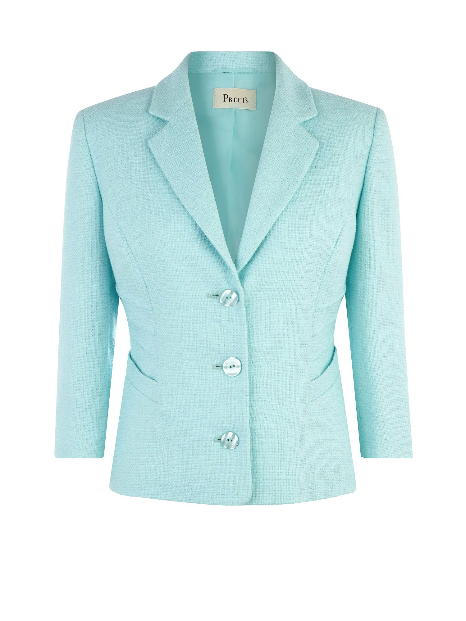 Aqua Pintuck Detail Jacket