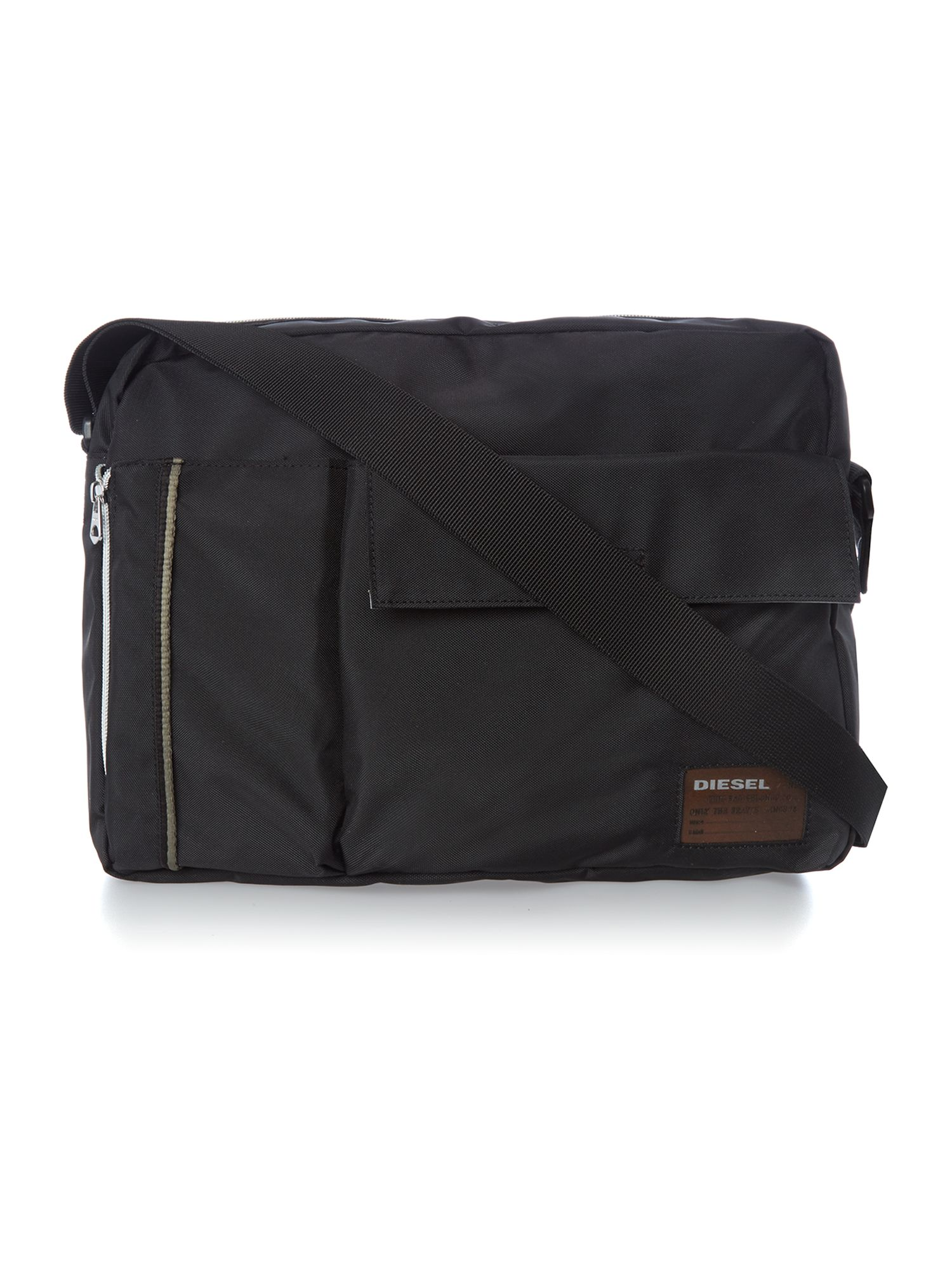 Nylon rocks messenger bag