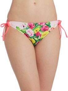 Roses at high tea tie side bikini pant