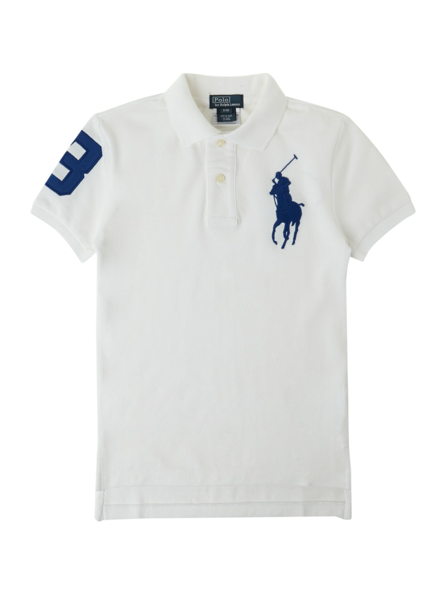Boy`s large pony polo shirt
