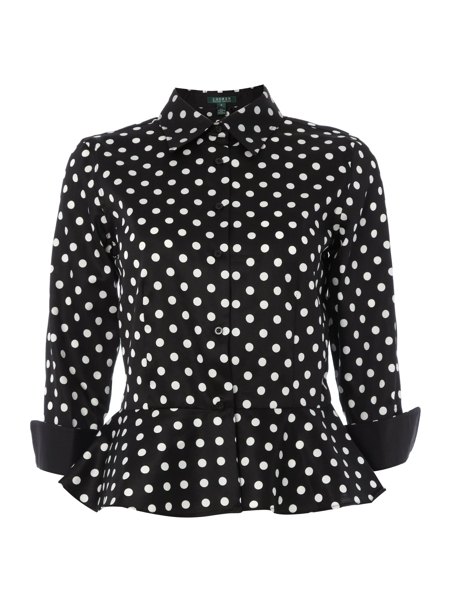 3/4 sleeved peplum top