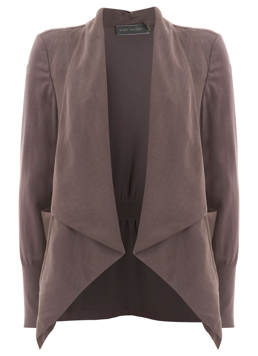 Mocha Waterfall Front Jacket