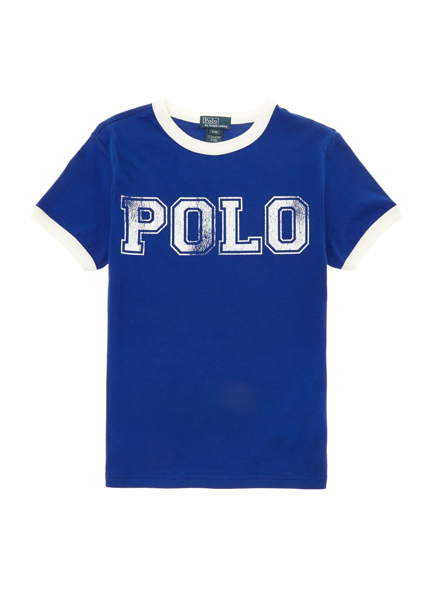 Boys distressed polo t-shirt