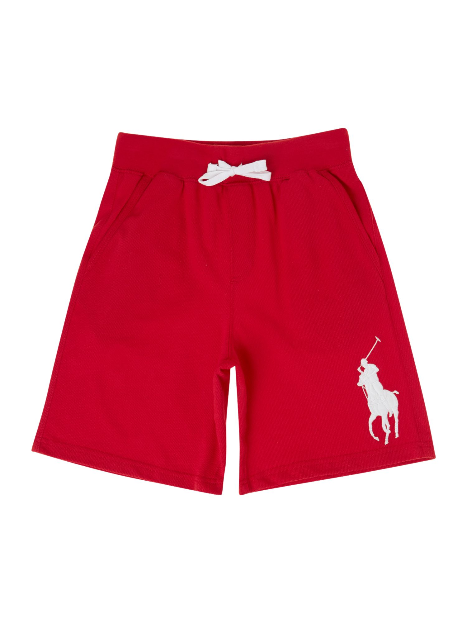 Boys large pony logo short