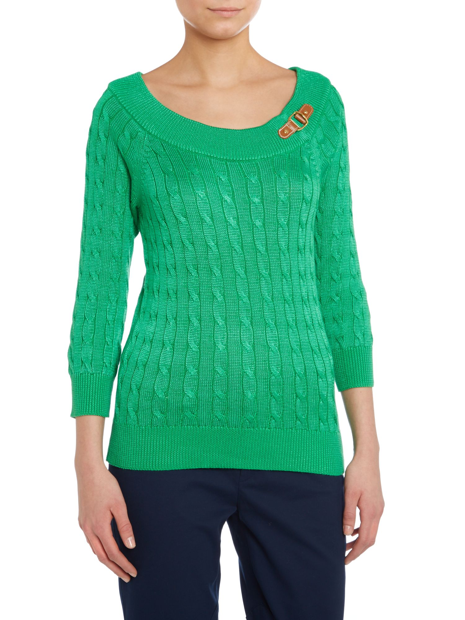 3/4 sleeved ballet neck raglan knit