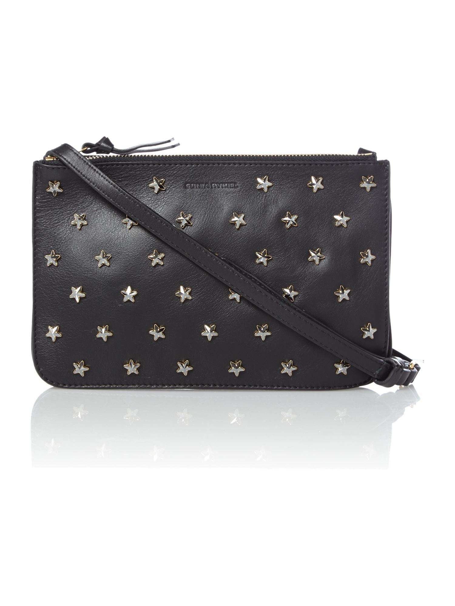Claude black star zip tote bag