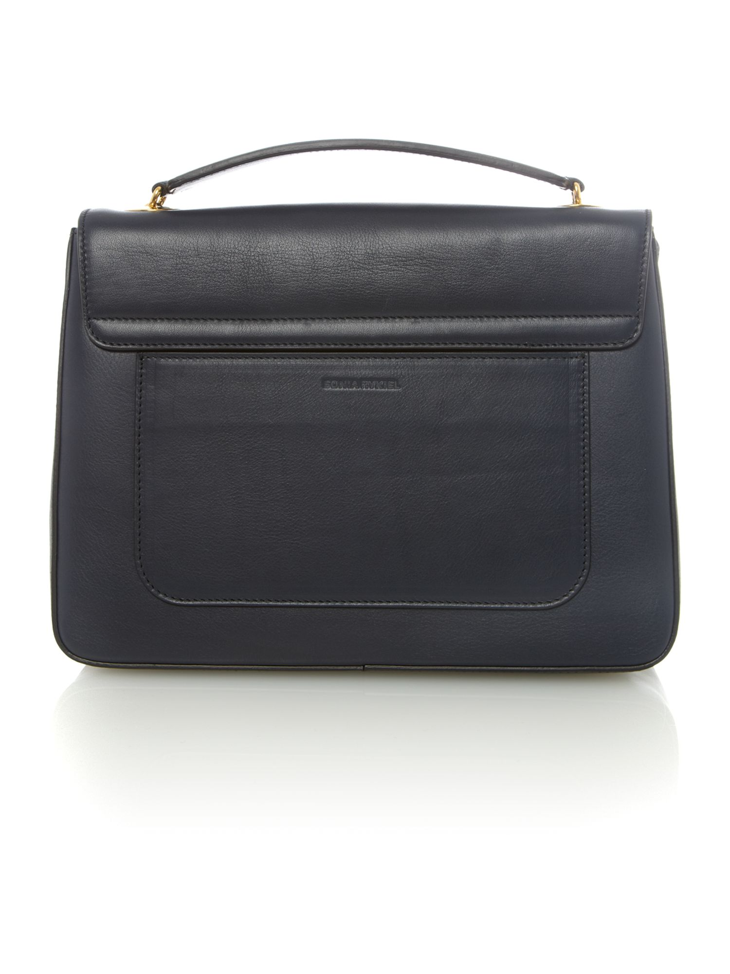 Mazarine navy chain tote bag