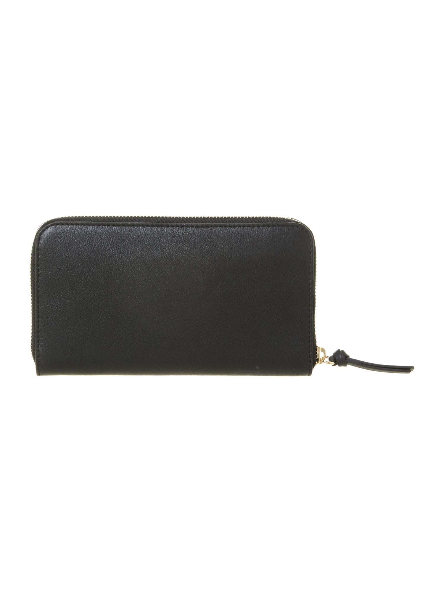 Babylone black large zip around purse