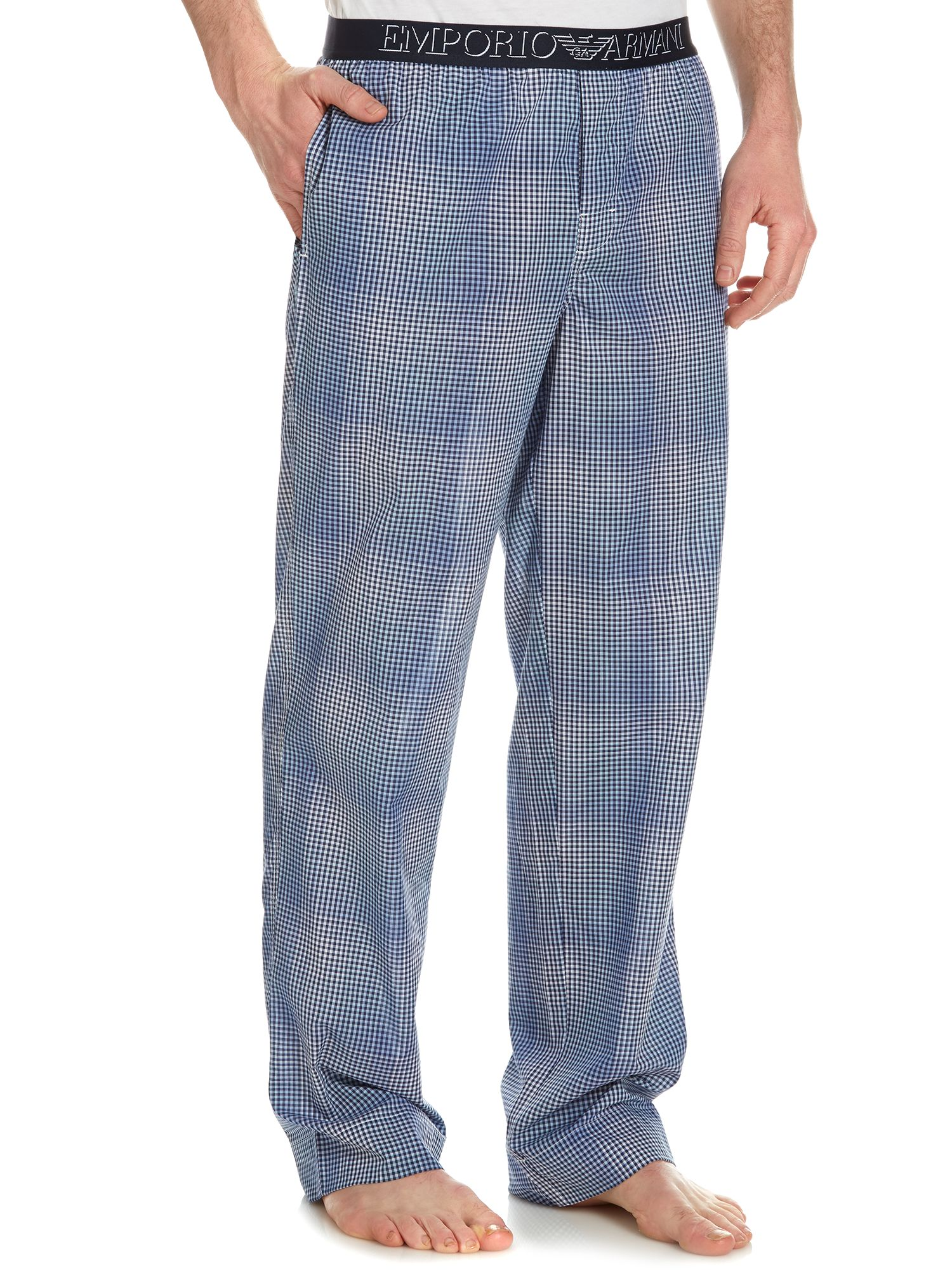 Woven gingham nightwear trouser