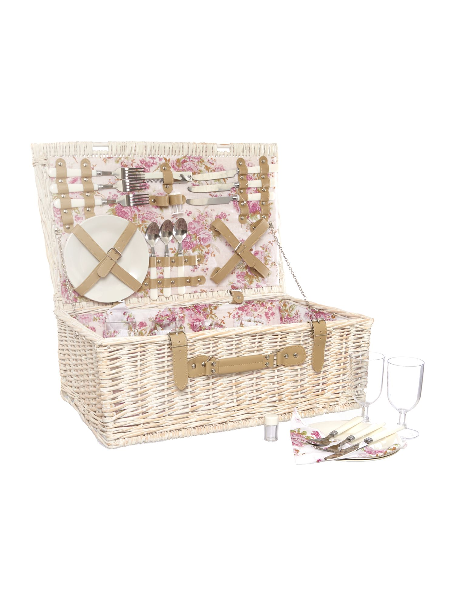 Meadow floral 4 person hamper