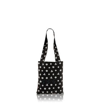 Hibbert black medium foldaway tote bag