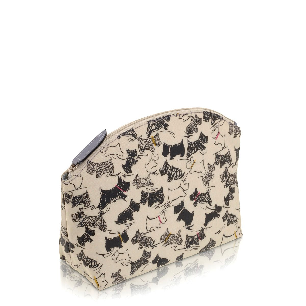 Doodle Dog large cream cosmetic bag
