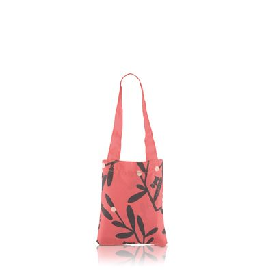 Burnett medium pink foldaway tote bag