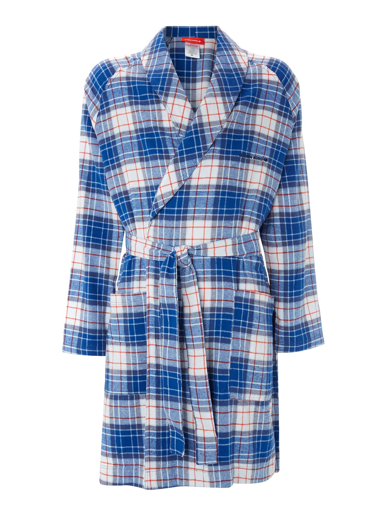 Check nightwear robe