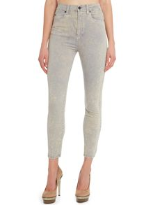 Dr Denim Cropa cabana cropped skinny jeans in Light Grey