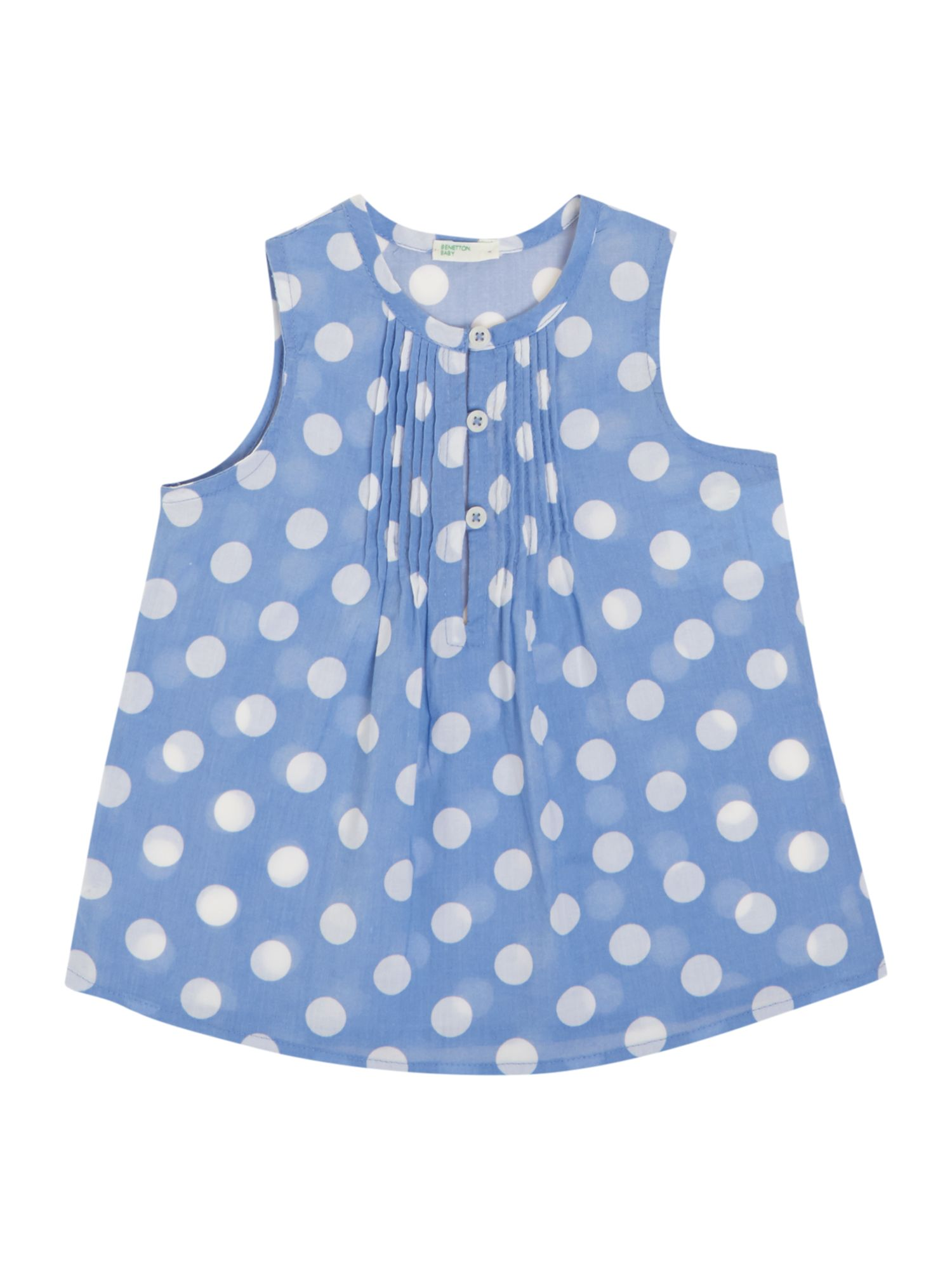 Girls spot print pleated blouse