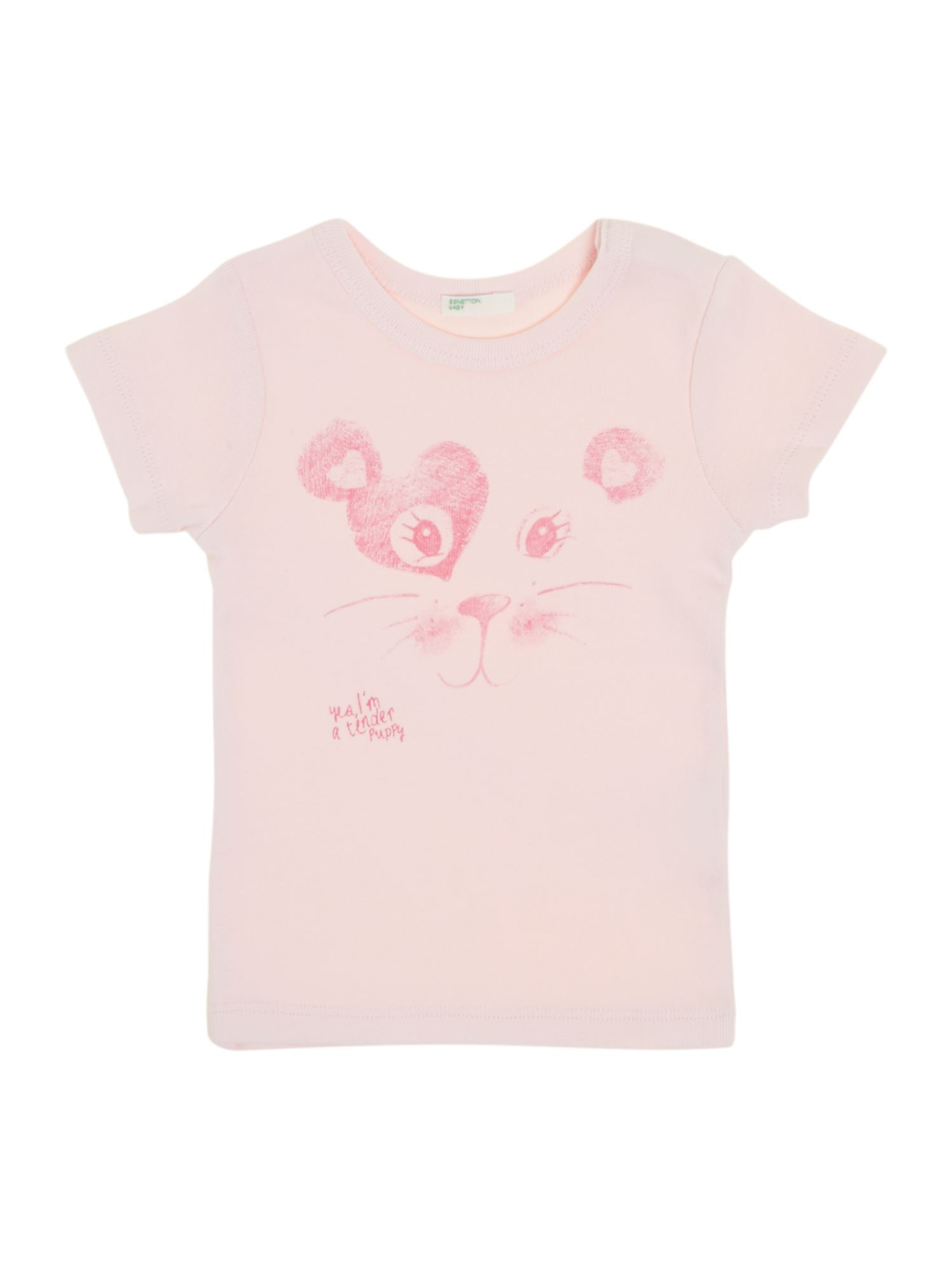 Girls cat print t-shirt
