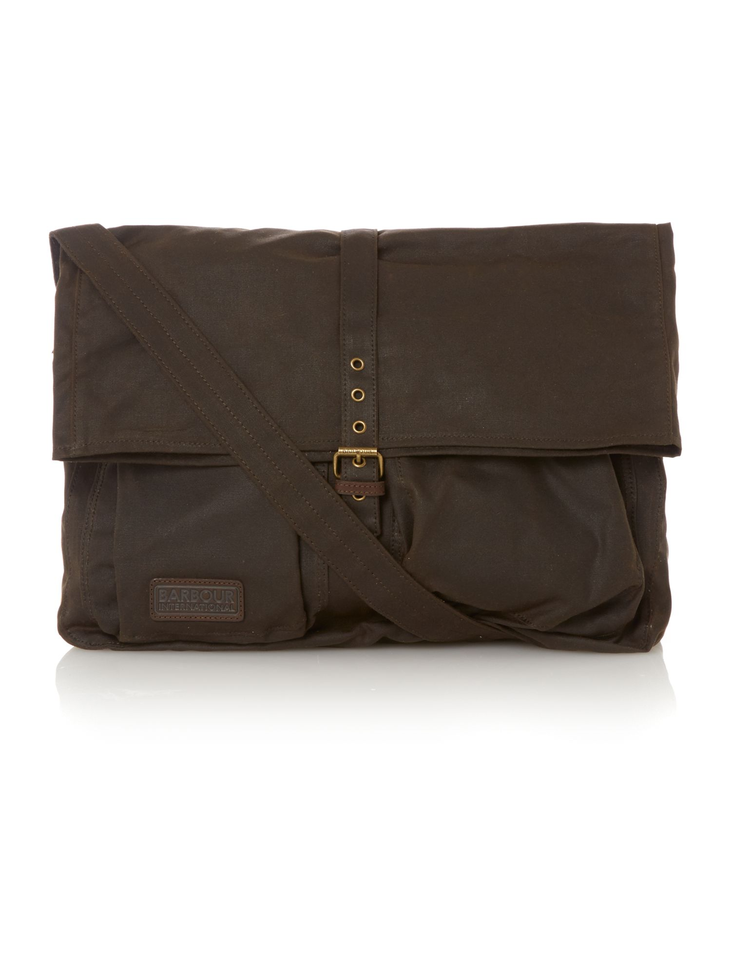 Stainton waxed messenger bag