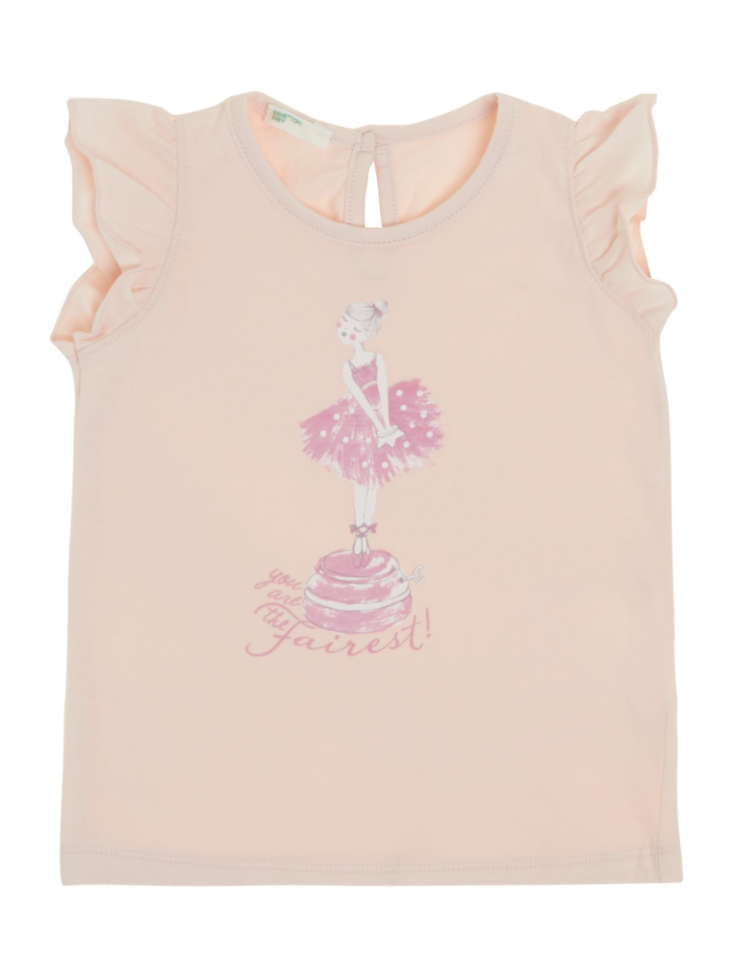 Girls frill sleeve top