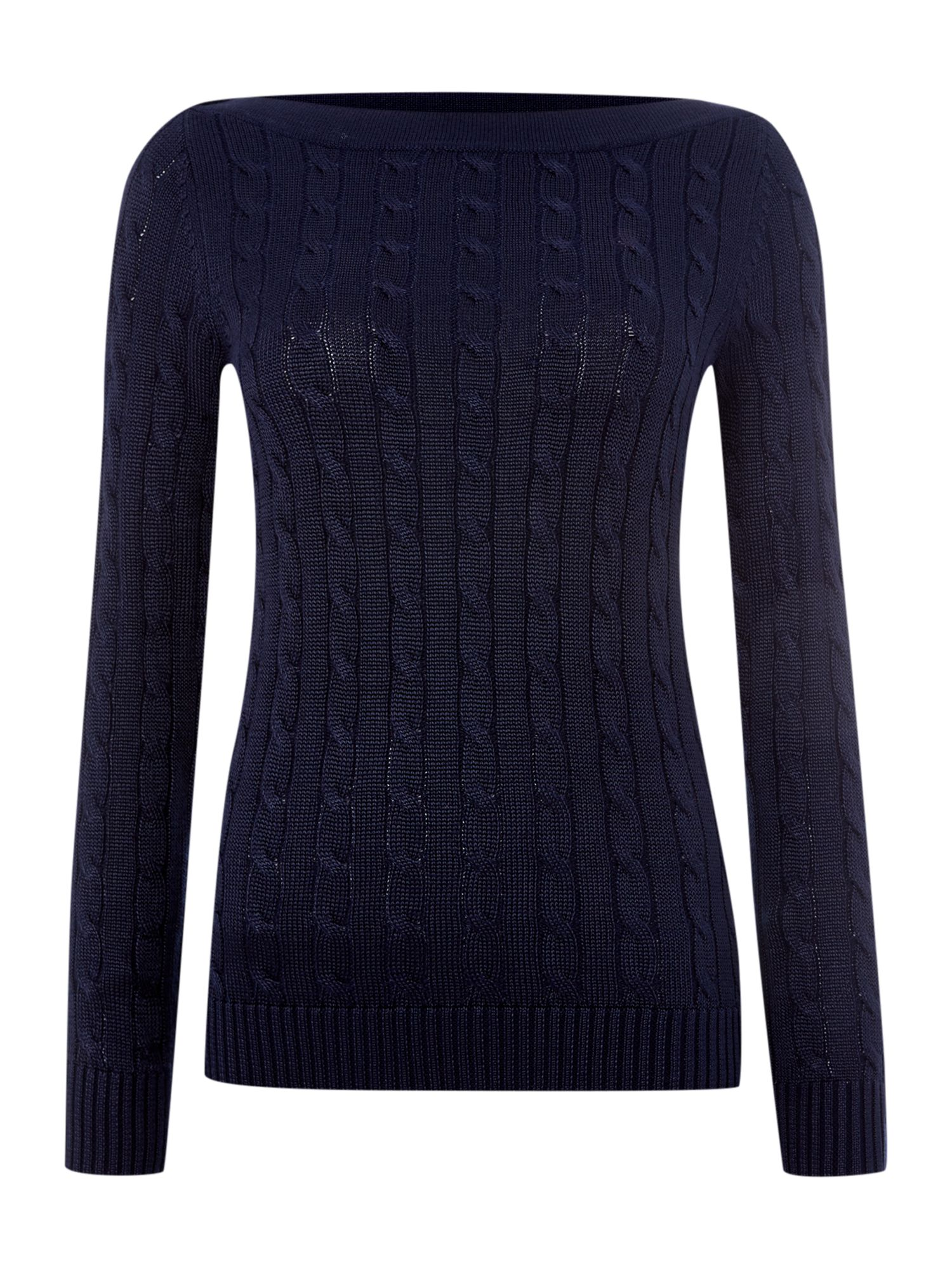 Boatneck cable knitted top