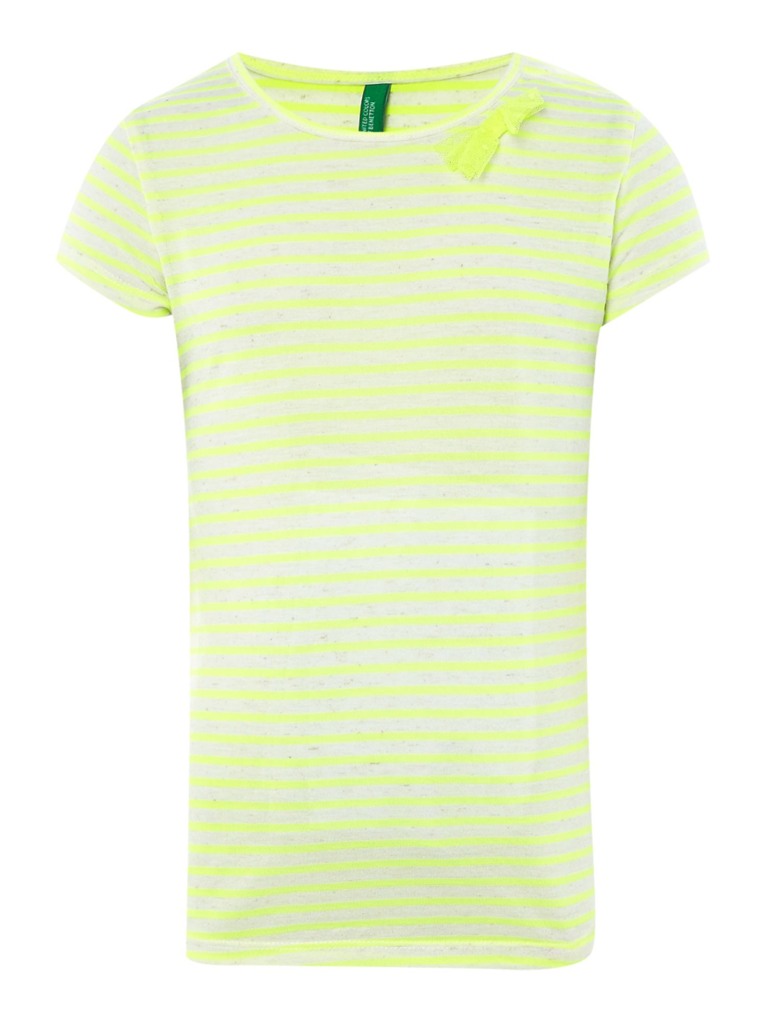 Girls fluro stripe t-shirt