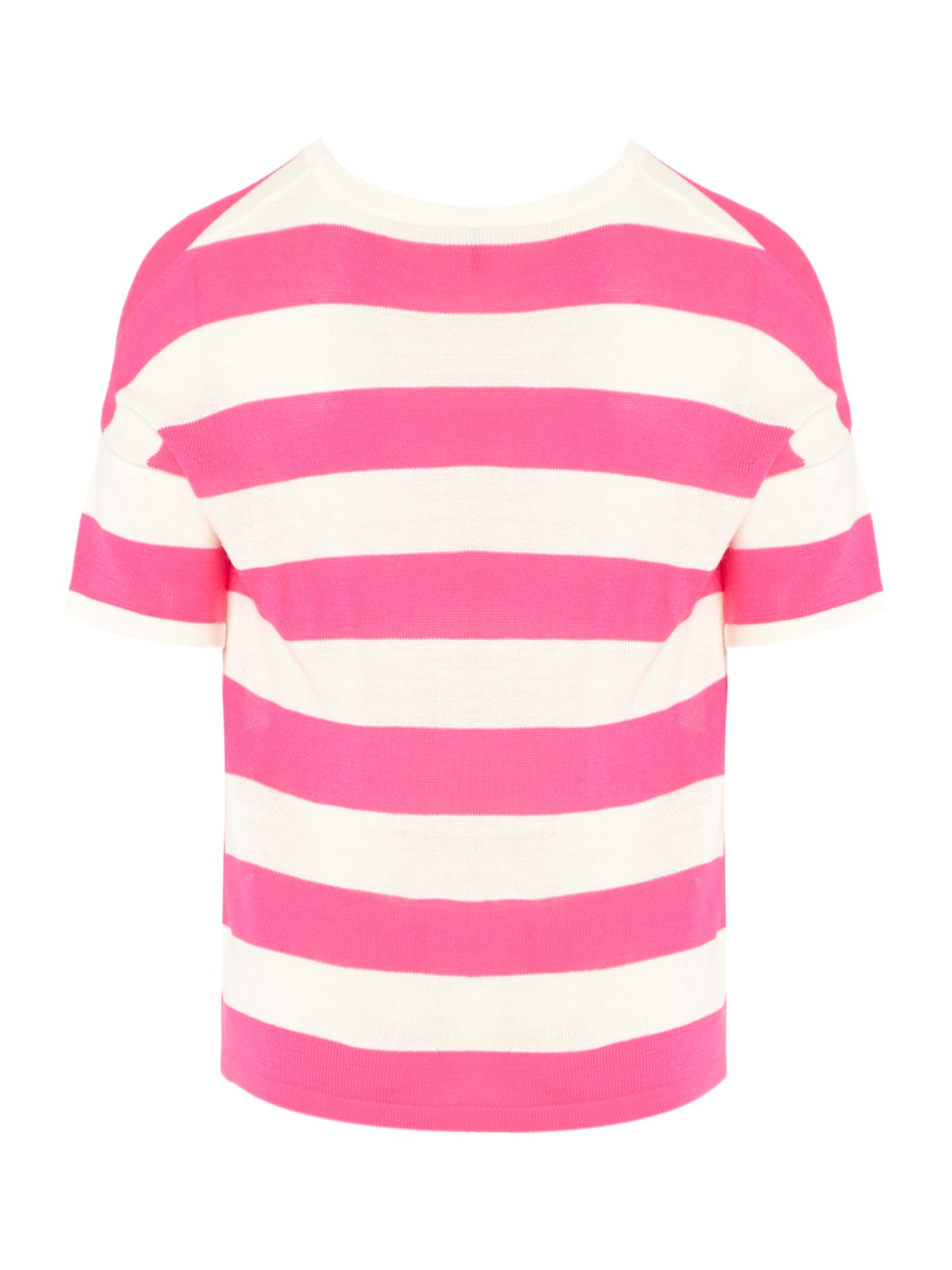 Girls fluro wide stripe jumper