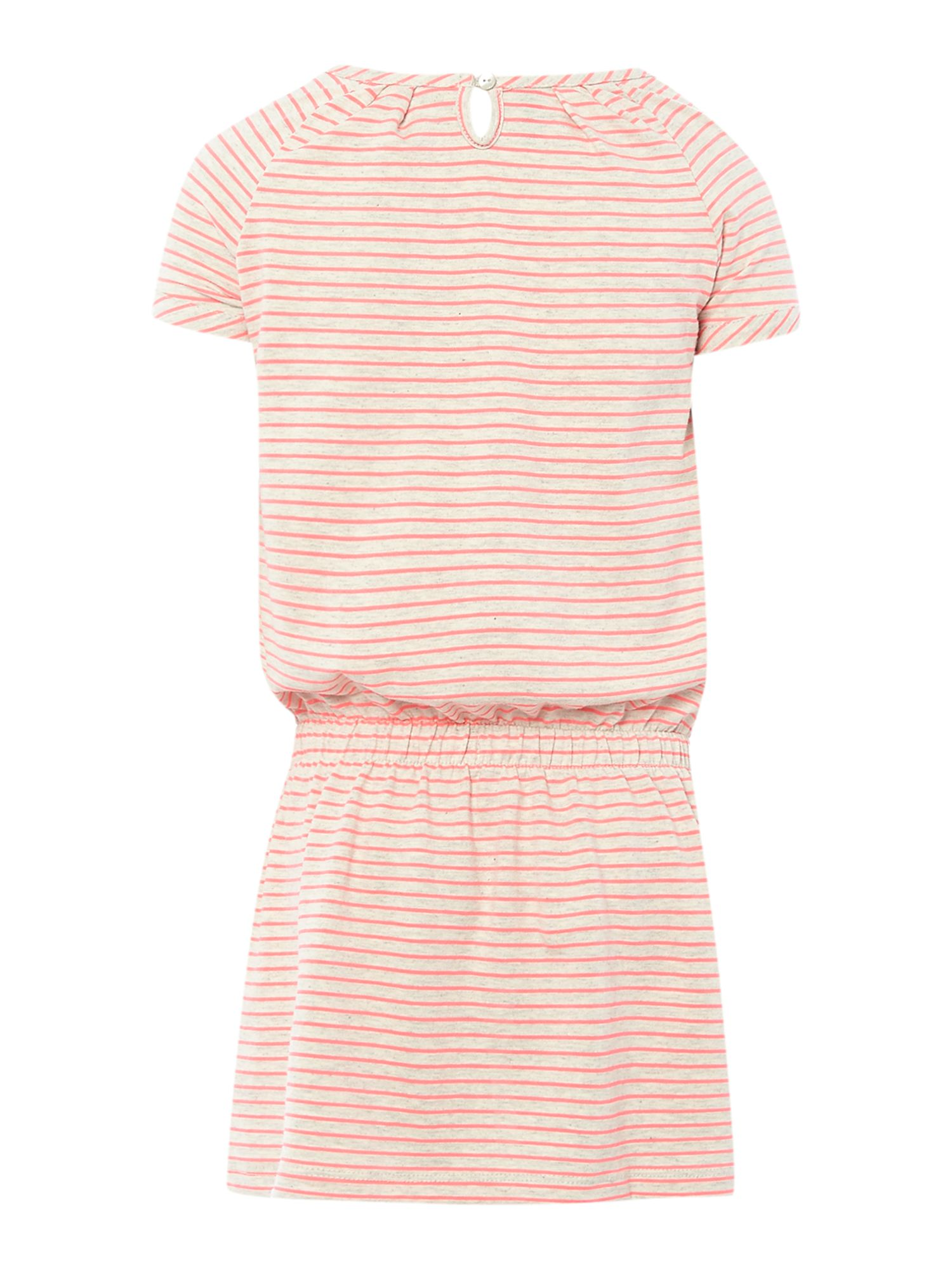 Girls fluro stripe dress