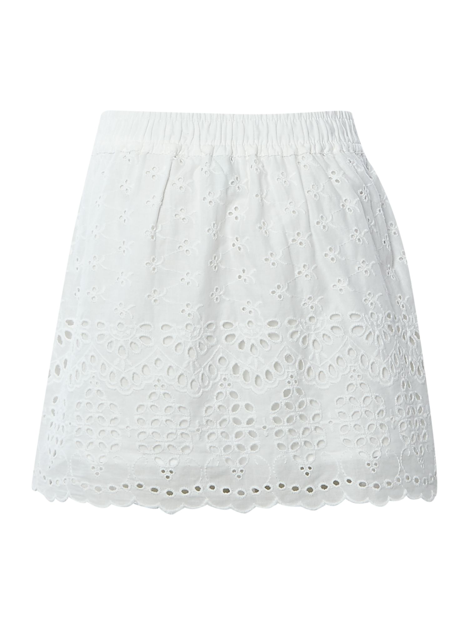 Girls broderie skirt