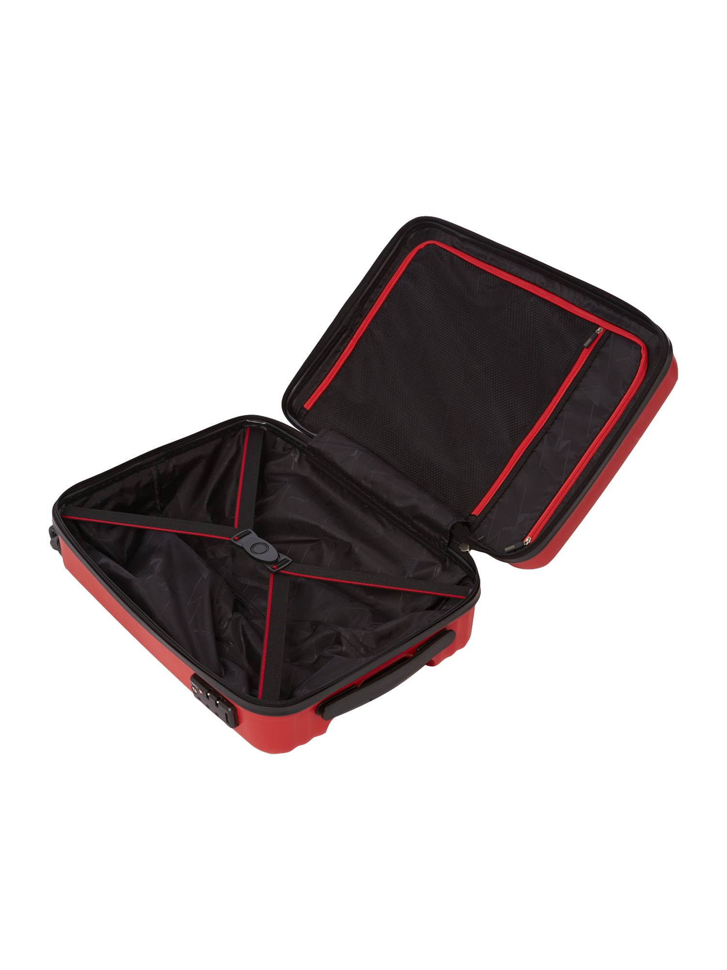 Moblite red 4 wheel cabin case