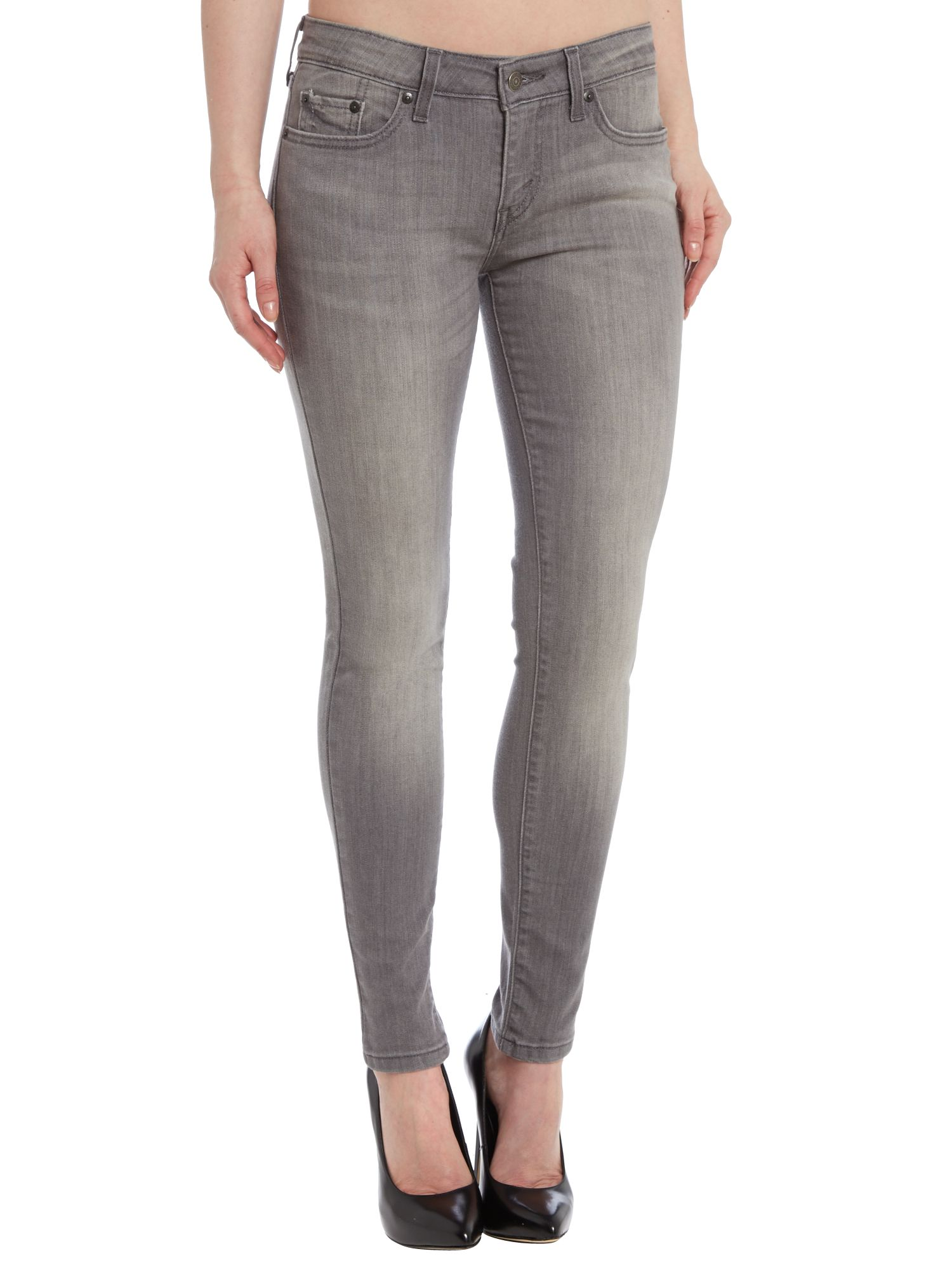 535 Leggings in bleached grey