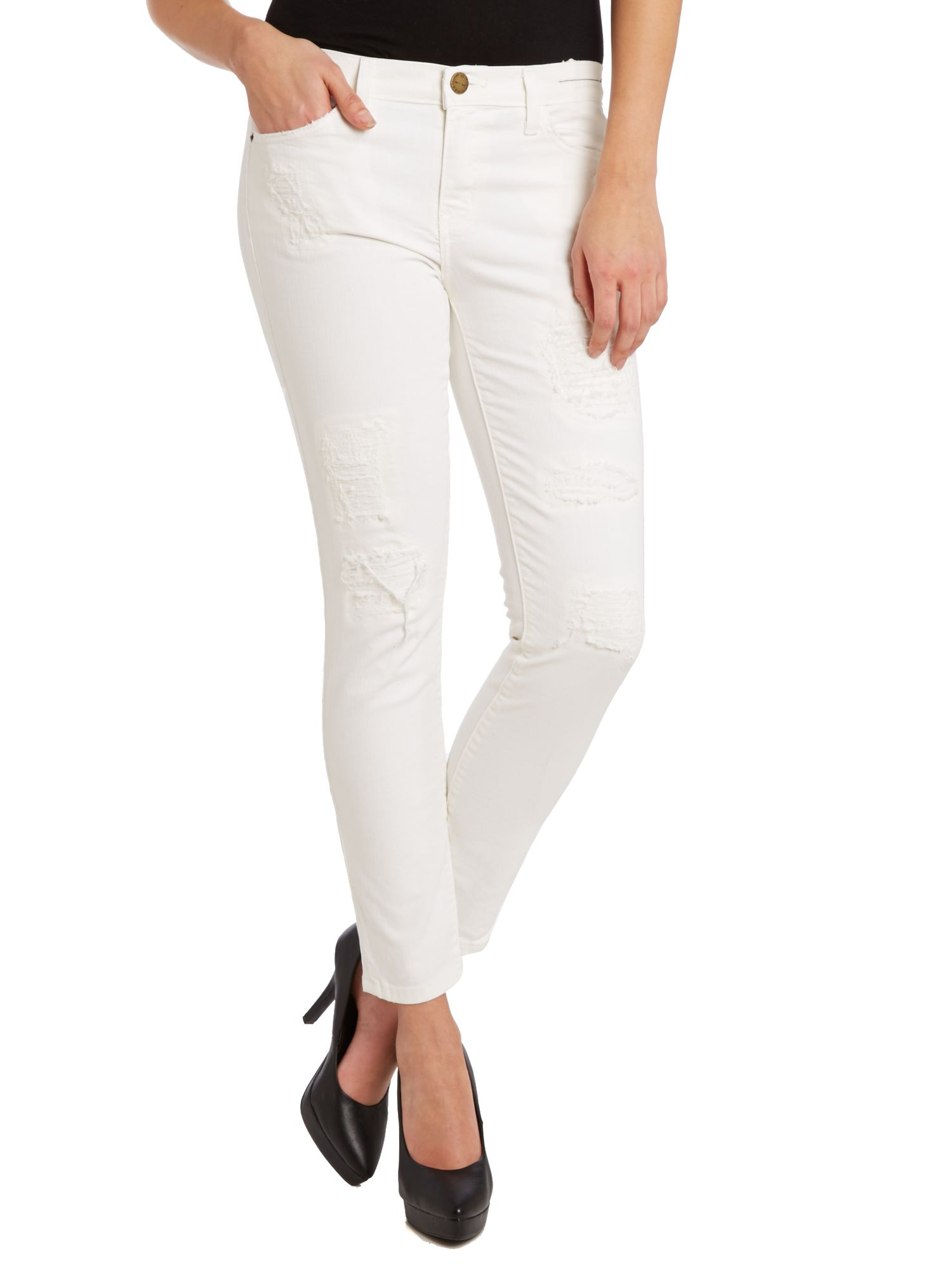 The stiletto skinny jeans in Dirty White