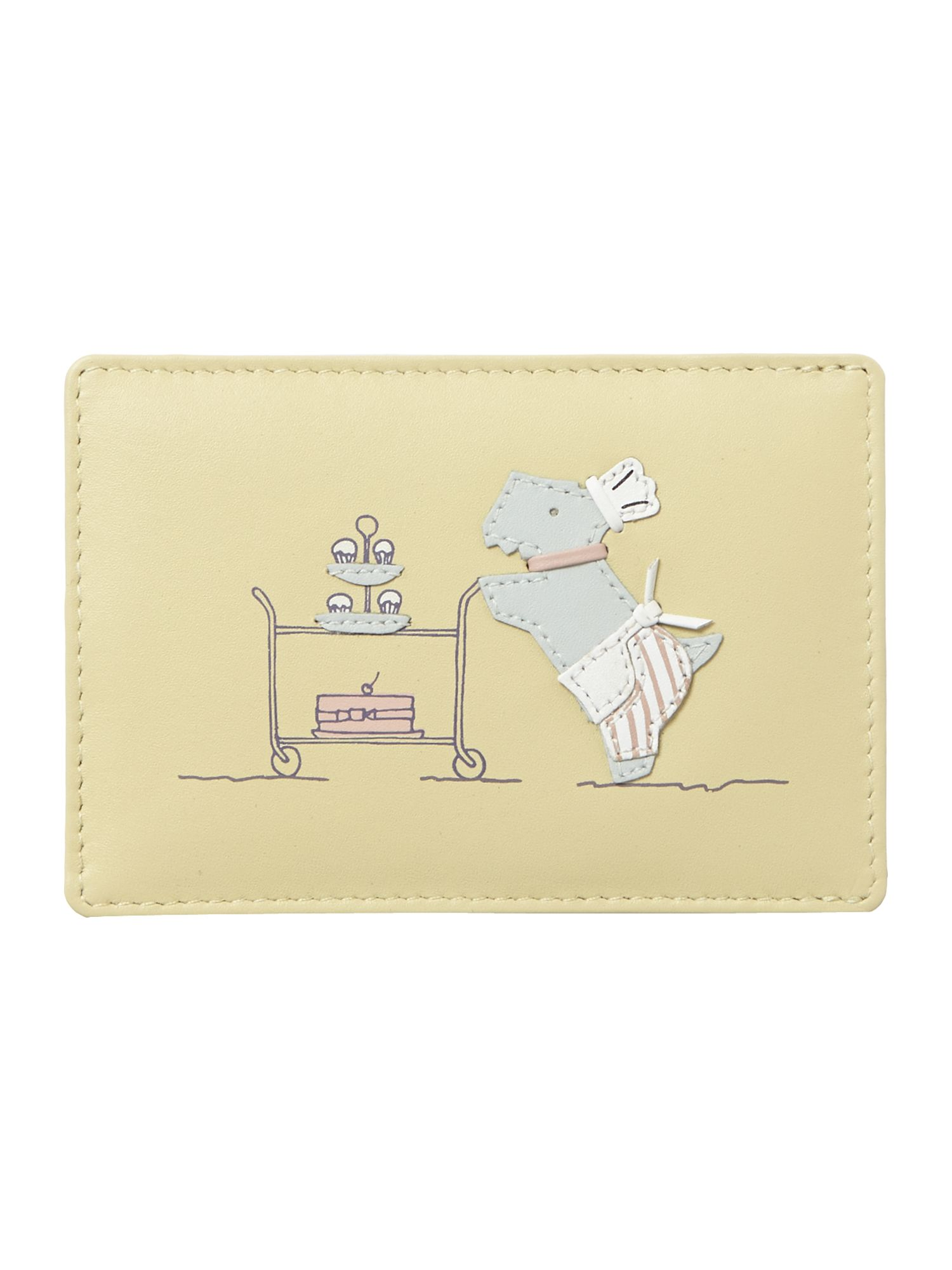 Patisserie Raderlie yellow travel card holder