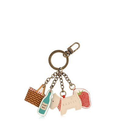 Picnic multi coloured keyring