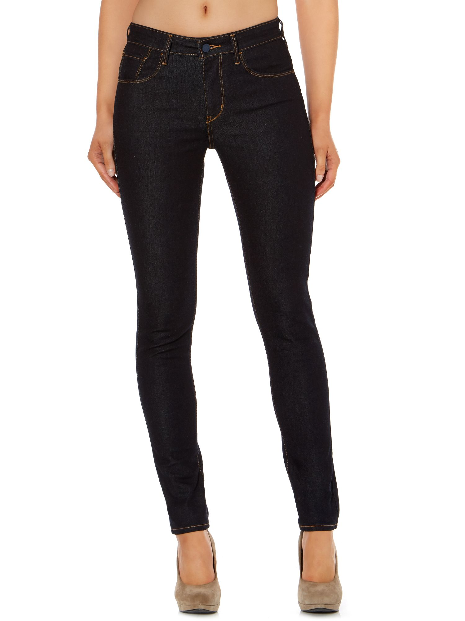 High rise skinny jeans in Extra Shade