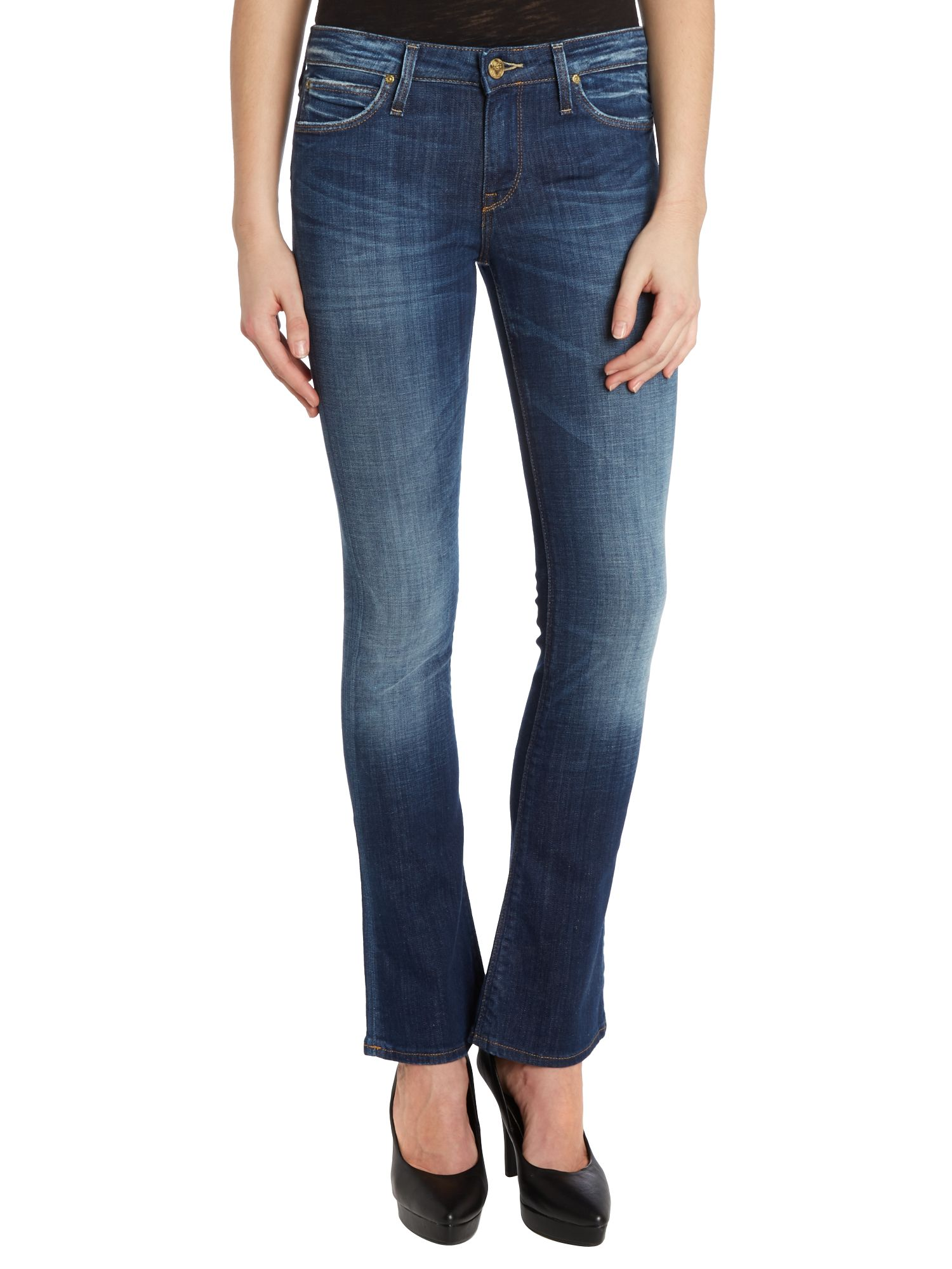 Emelle baby bootcut jeans in Deep Clush