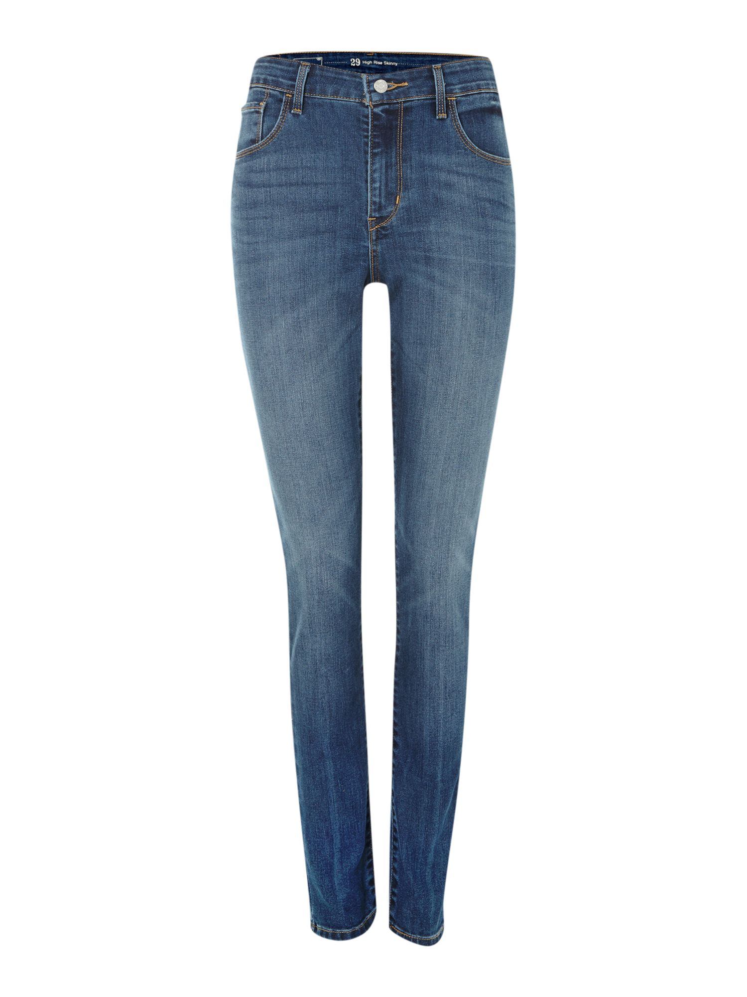 High rise skinny jeans in Blue Lagoon