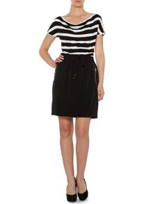 Drawstring zip skirt