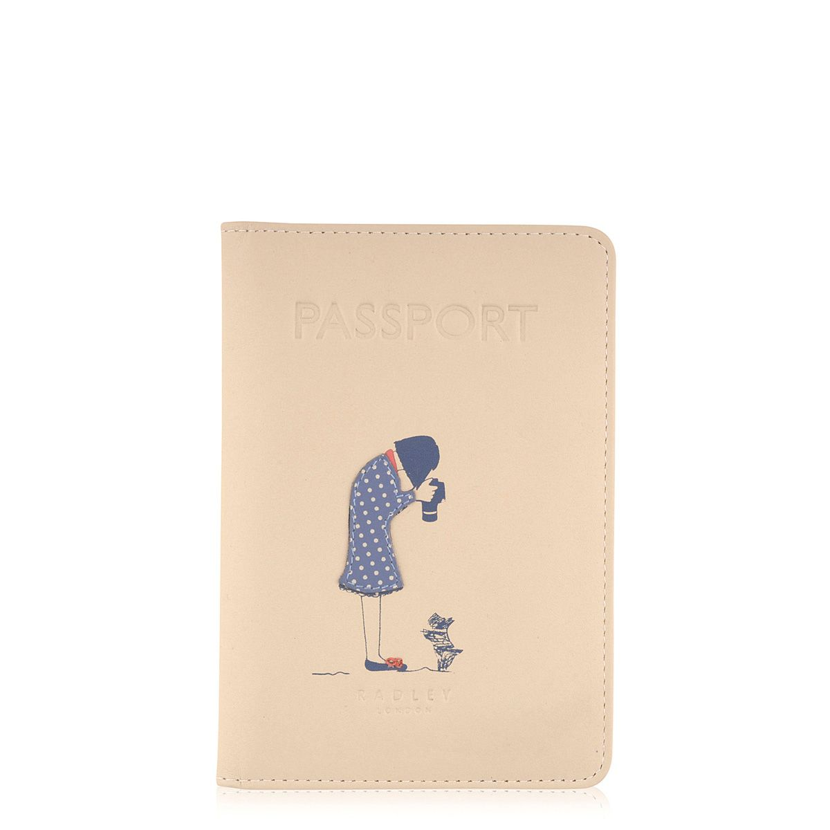 Snap happy cream passport cover