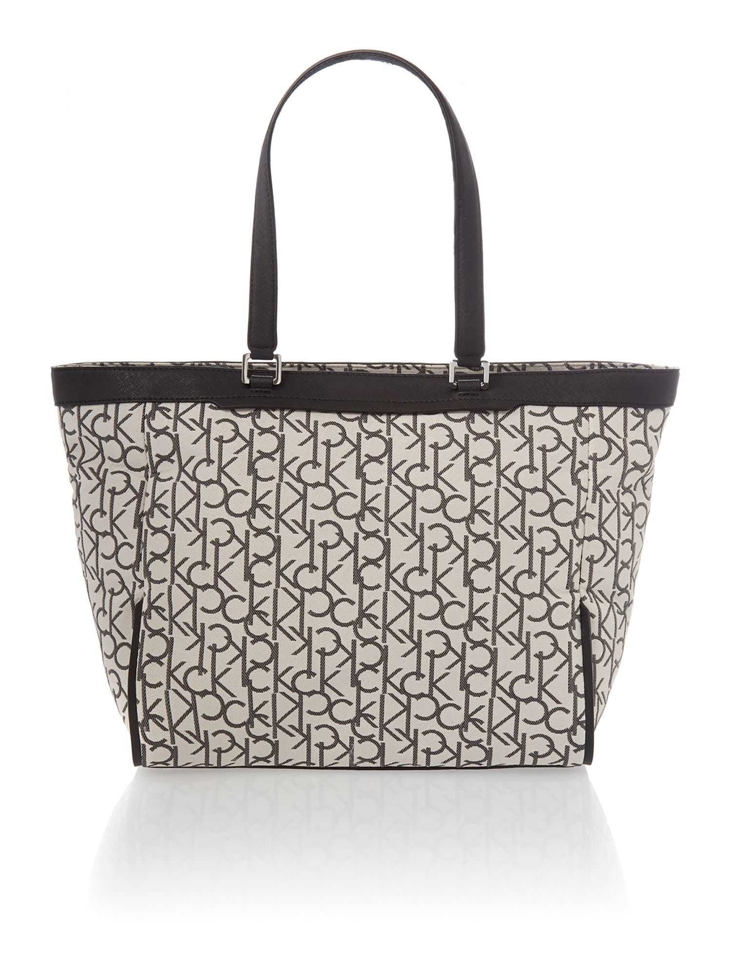 Jaquard neutral tote bag